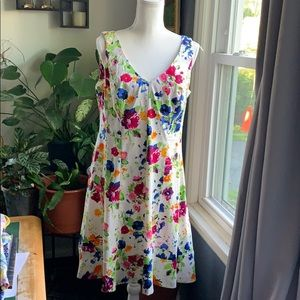Chaps floral sleeveless dress